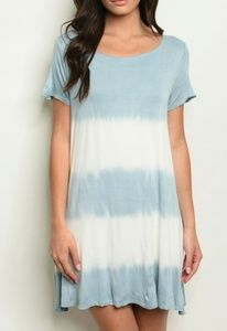 NWT Tie Dye Striped Open Back Swing Dress